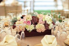 You know you love this vintage - chic floral centerpiece!    The mix of soft hues and lovely flowers will wow any guests.  They are also a great conversation starter!    <3 kismet events