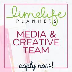 Would you like to be on our Media & Creative Team? We're getting ready to interview for our next round! If you're interested please send an email to Kristan at media@limelifeplanners.com and include the following information: Instagram handle Link to Facebook fan page Link to your blog A few sentences explaining why you'd be a great fit for our team  Deadline for applications is Sunday March 5th. Previous M&CT members are eligible to apply! Hint: we're looking for folks with an engaged…