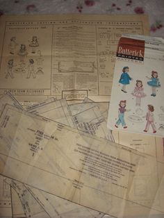 ORIGINAL Doll Clothes PATTERN 7155 for 14 in Toni Walker Harriet Hubbard Ayer