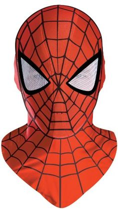 Shop for the Spiderman Deluxe Fabric Hood Mask today. This is an officially licensed Spiderman Costume Mask available at Stylin Online now. Halloween Cosplay, Halloween Masks, Halloween Costumes For Kids, Cosplay Costumes, Villain Costumes, Halloween Spider, Adult Halloween, Mascot Costumes, Cosplay Ideas