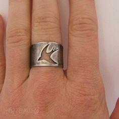 """Кольца ручной работы. Ярмарка Мастеров - ручная работа Серебряное кольцо """"Полёт"""". Handmade."""