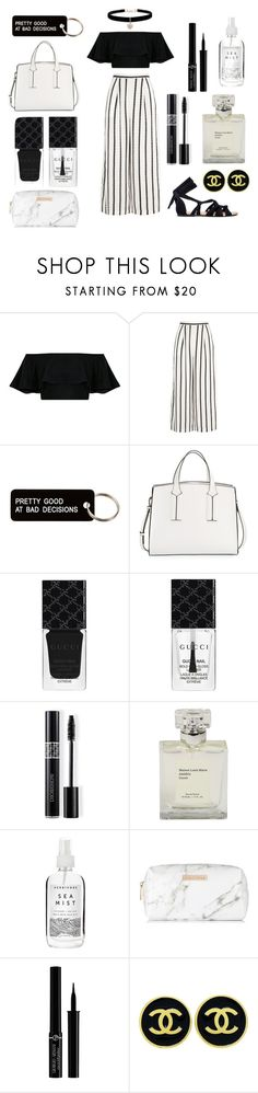 """""""Darling I'm a nightmare dressed like a daydream"""" by harriethequeen ❤ liked on Polyvore featuring Finders Keepers, Various Projects, French Connection, Gucci, Christian Dior, Herbivore, Spectrum, Giorgio Armani, Chanel and Betsey Johnson"""