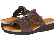 Naot Footwear Sandy Brushed Black Leather - Zappos.com Free Shipping BOTH Ways