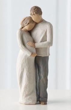 Home family van Willow Tree. Een prachtig beeldje van man en vrouw in blijde verwachting. Een warm welkom een echt thuis! Design is van Susan Lordi. 26252