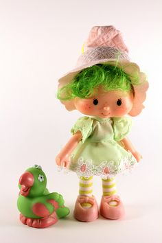 Strawberry Shortcake - Lime Chiffon with Parfait Parrot. I always loved her pink and green outfit.