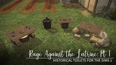 RAGE AGAINST THE LATRINE: PART 1 Hello peoples! I started these a while back and have come out of my creative slump to finish up the first part and finally release them! This set of rustic latrines is. Cherry Blossom Tree, Blossom Trees, Sims Castaway, Story Blogs, Sims 2 Games, Medieval Peasant, Red Bluff, Fire Flower, 11. September