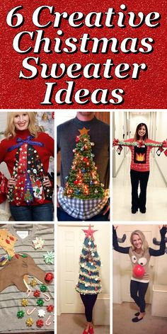 will you be attending an ugly sweater party this year check out these 6 creative sweater ideas for inspiration to make your own fant