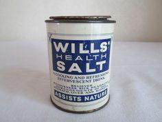 Boots The Chemist - Wills Health Salt Drink - Vintage Tin