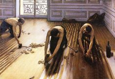 The Floor Scrapers by Gustave Caillebotte - I love this painting!