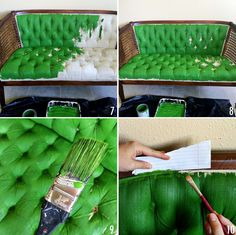 How to paint upholstery with latex paint and fabric medium!