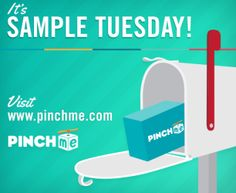PINCHme: Free Samples at Noon EST (Limited Quantity) – Hip2Save on PINCHme! http://fw.to/oytidLT