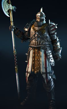 m Fighter Plate Helm Halberd For Honor Lawbringer
