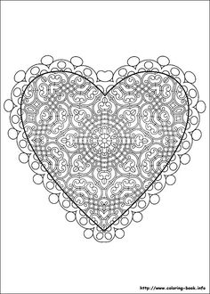 Valentine's Day coloring picture