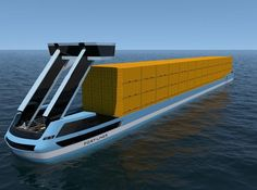 World's first electric container barges to sail from European ports this summer Dubbed the 'Tesla of the canals', the unmanned vessels will operate on Dutch and Belgian waterways, vastly reducing diesel vehicles and emissions Rotterdam Port, Le Cargo, Motor Diesel, Electric Boat, 3d Modelle, Naval, Super Yachts, Set Sail, Holland