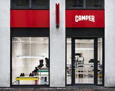 Camper store in Malmo has an unique interior design.