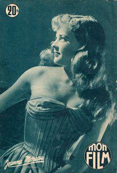Jeanne Moreau, en couverture de Mon Film N°383, du 23 décembre 1953.