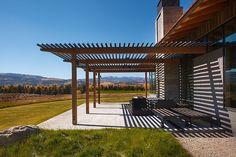 modern trellis shade structure