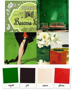 Mojito & Flame + Jet & Cream {gorgeous holiday colors}