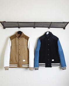 Melton Varsity Jacket | SOLETOPIA Mens Fashion Blog, Best Mens Fashion, Men's Fashion, Cool Outfits, Fashion Outfits, Mens Clothing Styles, Fashion Watches, Style Guides, My Style