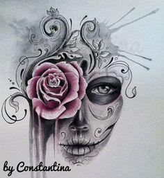 watercolor skull tattoos - Google Search