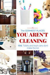 Think your house is clean because you vacuum, dust, clean the kitchen and bathrooms on a regular basis? Think again!!  Have you ever wondered where the most germs live in your home? Hint: Toilets and...