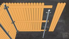 Fencing with Metal Posts | DIY Done Right Includes supply list and step-by-step.