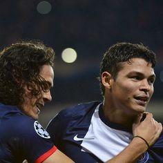 Thiago Silva and Edinson Cavani  PSG