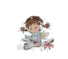 Zz Cross Stitching, Cross Stitch Embroidery, Embroidery Patterns, Cross Stitch Patterns, Cross Stitch Fairy, Cross Stitch Angels, Cross Stitch Numbers, Embroidery Techniques, Blackwork
