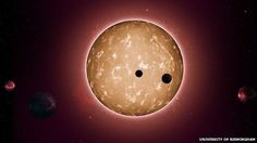 """An ancient solar system similar to our own has been discovered by scientists. Studying data from the Kepler telescope, the team, led by the University of Birmingham, found a star orbited by five planets similar in size to Earth. The system, 117 light years away, is the oldest known of its kind, formed 11.2 billion years ago. Dr Tiago Campante said it could provide a clue to """"the existence of ancient life in the galaxy""""."""