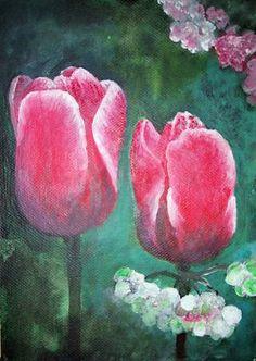 Sehe dir das Foto von kakorei mit dem Titel Acryl auf Malpappe tulpen und andere inspirierende Bilder auf Spaaz.de an.