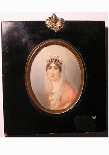 Miniature of Josephine Bonaparte. This is one of many artefacts stolen in a major theft of Napoleonic memorabilia from The Briars Homestead at Mount Martha, Victoria, Australia. Please visit the link from which this image is taken to see the other missing items, and share the images to help aid in the items' recovery. Thanks.