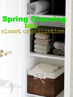 Quick and easy tips for easy Spring Cleaning and organizing the linen closet.