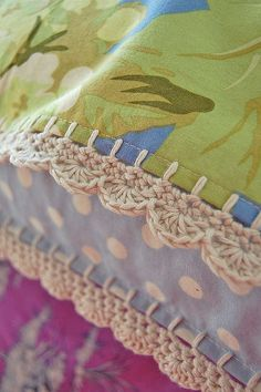 crochet trim on pillowcase... | Flickr - Photo Sharing!