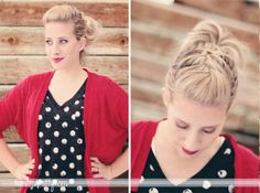 French braided pompadour tutorial via TwistMePretty....LOVE!