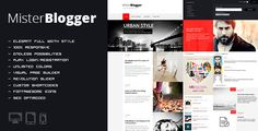 MisterBlogger - Blog/Magazine WordPress Theme Powerful WP Theme designed in a clean and minimalistic style. This theme is very flexible, easy for customizing and well documented, approaches for personal and professional use. MisterBlogger has been coded in HTML5 & CSS3 and jQuery. It has a solid flexible responsive layout that scales from 320px to full screen width width all Bootstrap features. Follow me to be notified for future updates.