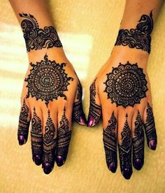 Intricately beautiful henna designs (23 photos)