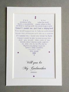 Will You Be My Godmother Gift Godparent Baptism Gifts For Personalized Christening