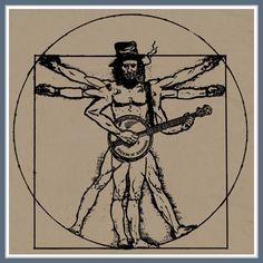 Banjo Da Vinci T SHIRT Bluegrass Folk Rock Funny by Shirtmandude, $12.00