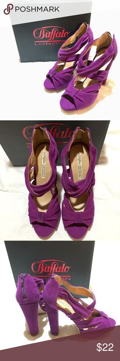 Heels / Pumps - Purple - Buffalo London Buffalo London platform heels. Purple faux suede. I love purple and the material makes this pair soft and comfortable! Don't remember where I purchased it, but the box says but it's a size 10 (Euro 40).  Never worn, still in box. Shoes Platforms