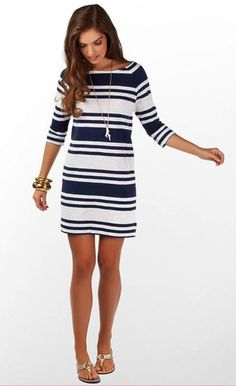 stripe dress, blue and white, summer, spring