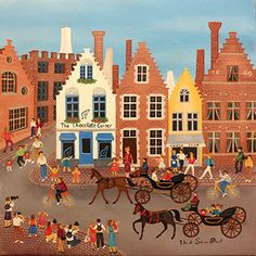 The Chocolate Corner in Brugges by Yolande Salmon-Duval