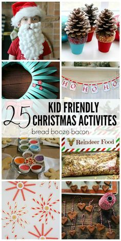 These 25 Kid Friendly Christmas Activities can either be done by the kiddos alone, or with some parental help - but always with supervision. Five words: glue, glitter, and pom poms. Don't ever trust them with glitter.