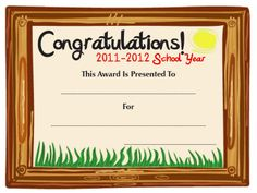Free end-of-the-year award certificate template from Sub Hub.