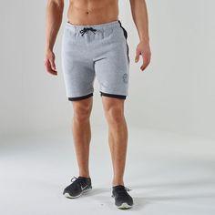 Luxe Legacy Fitness Shorts | Gym Shorts | Grey Marl / Black | Gymshark