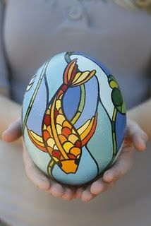 Handpainted Ostrich Egg...Amazing!