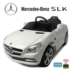 Mercedes Benz SLK 250 in weiß Kinderelektroauto Kinderelektrofahrzeug