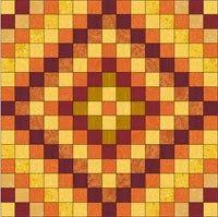 block Orange Fabric, Gold Fabric, Grid Tool, Electric Quilt, Graph Paper, Bar Set, My Sunshine, Mystery