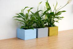 Modern Planters Hand painted Pot Holders, minimalism decor, beach house on Etsy, $55.84