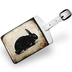Luggage Tag Bunny rabbit Vintage Travel ID Bag Tag  Neonblond >>> You can find more details by visiting the image link. Note:It is Affiliate Link to Amazon.