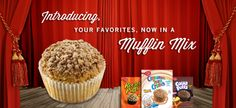 Muffins - Betty Crocker Mixes -- Just add 1 1/2 c. canned pure pumpkin OR 1 1/2 c. (12 oz.) club soda (NOT BOTH -- and don't add ANYTHING  else!)  1/12th of recipe (1 muffin): 110 - 130 calories, 1.5 - 3g fat, 170 - 200mg sodium, 22 - 26g carbs, 1 - 2g fiber, 11 - 12g sugars, 1 - 2g protein -- PointsPlus® value 3*